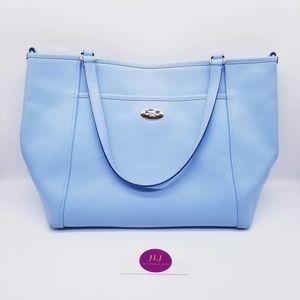Coach Crossgrain Shoulder Bag Light Baby Blue